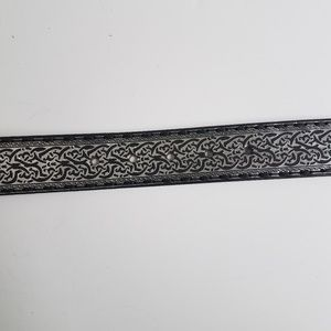 Fossil Accessories - Fossil black and silver belt Large